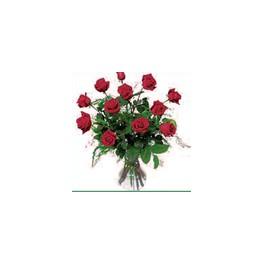Florero 12 Rosas Ecuatorianas