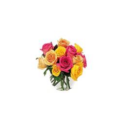 Arreglo Floral Rosas Rojas y Follaje