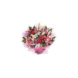 Bouquet Rosas, Lilium y Maules