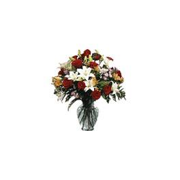 Florero Rosas y Lilium