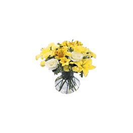 Florero Lilium, Rosas y Astromelias